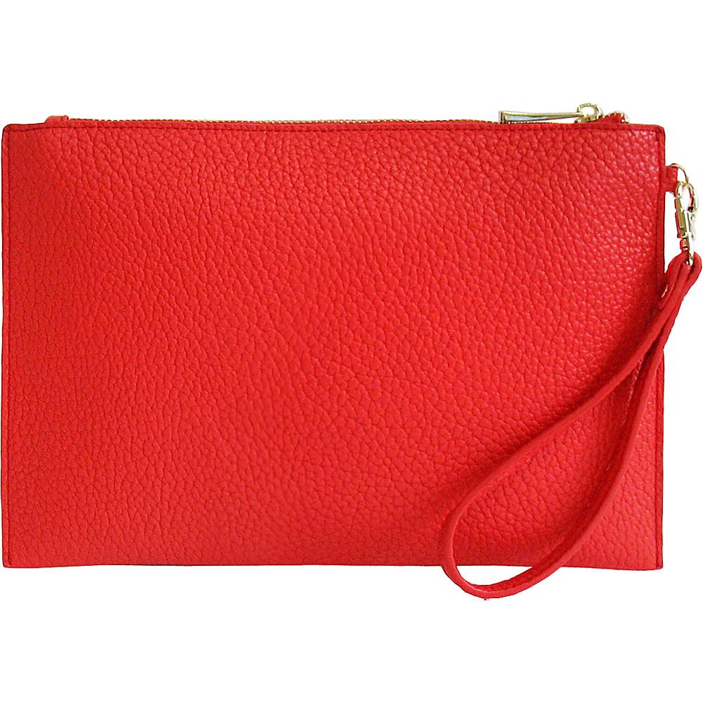 JNB Casual Wristlet Red JNB Manmade Handbags