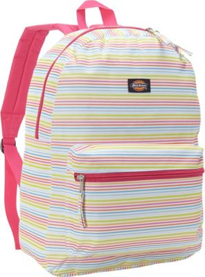 Dickies Recess Backpack White/Multi Thick/Thin Stripe - Dickies Everyday Backpacks