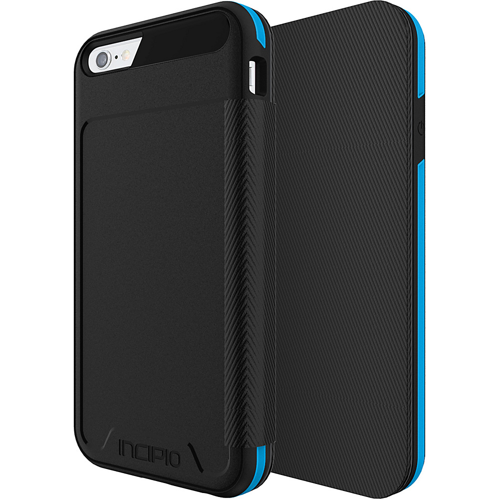 Incipio Performance Series Level 3 Folio for iPhone 6/6s Black/Cyan - Incipio Electronic Cases - Technology, Electronic Cases