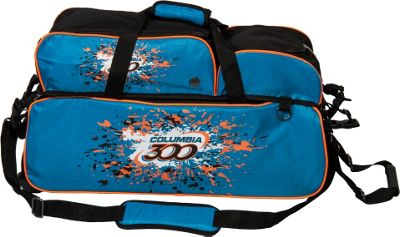Columbia 300 Bags Team 300 Triple Ball Tote Blue/Orange - Columbia 300 Bags Bowling Bags