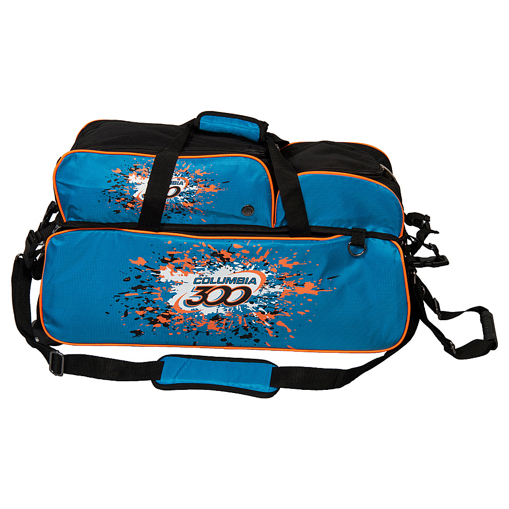 Columbia 300 Bags Team 300 Triple Ball Tote Blue Orange Columbia 300 Bags Bowling Bags