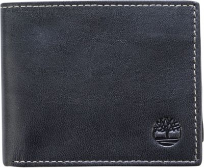 Timberland Wallets Cloudy Passcase Wallet Black - Timberland Wallets Men's Wallets