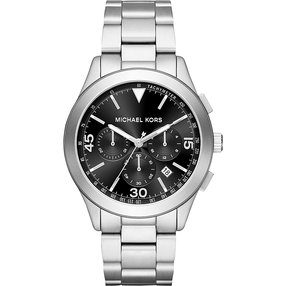 Michael Kors Watches Gareth Stainless Steel Chrono Watch Silver Michael Kors Watches Watches