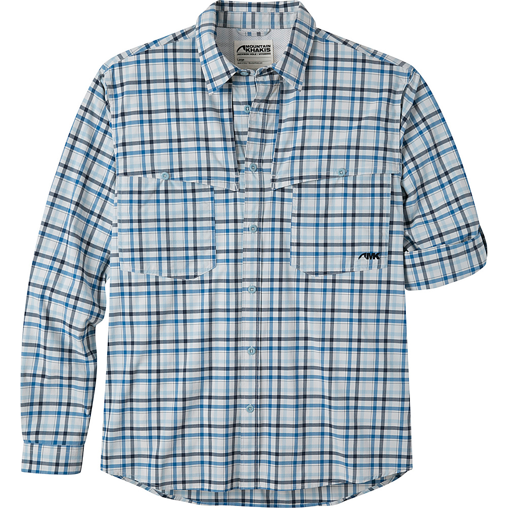 Mountain Khakis Skiff Shirt S - Riviera Plaid - Mountain Khakis Mens Apparel - Apparel & Footwear, Men's Apparel