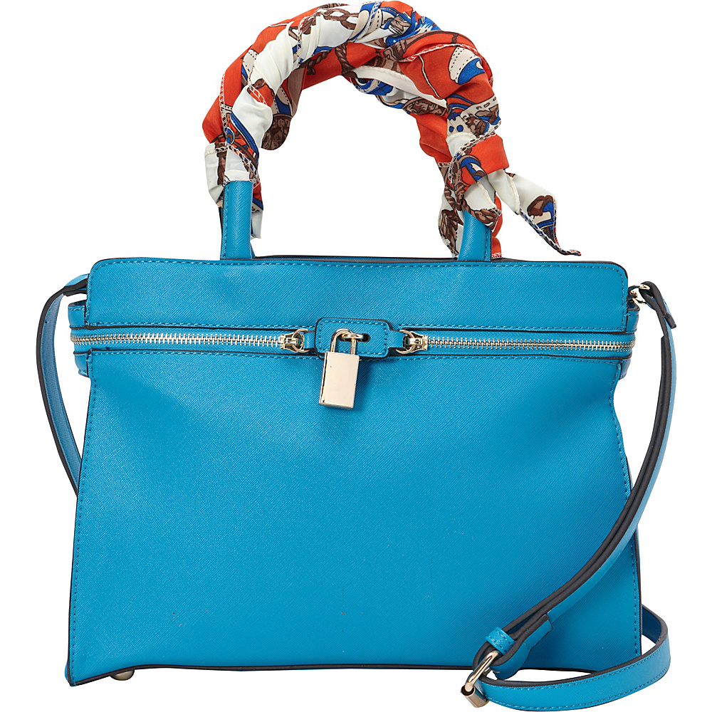 SW Global Blair Satchel Bag Blue - SW Global Manmade Handbags - Handbags, Manmade Handbags