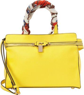 SW Global Blair Satchel Bag Yellow - SW Global Manmade Handbags