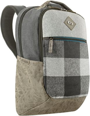 SOLO Nomad 15.6 inch Backpack Gray - SOLO Business & Laptop Backpacks