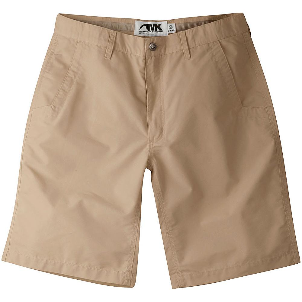 Mountain Khakis Poplin Shorts 32 - 8in - Khaki - 10W 18.5in - Mountain Khakis Mens Apparel - Apparel & Footwear, Men's Apparel