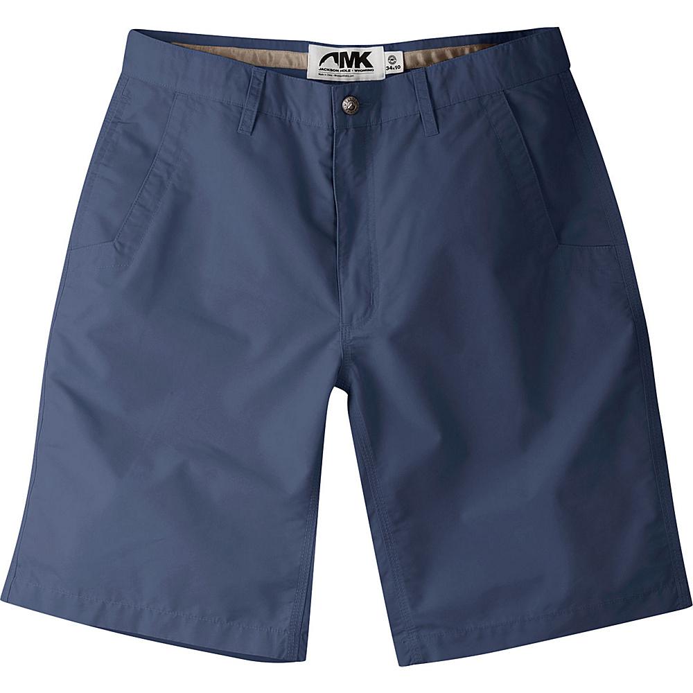 Mountain Khakis Poplin Shorts 34 - 8in - Navy - Mountain Khakis Mens Apparel - Apparel & Footwear, Men's Apparel