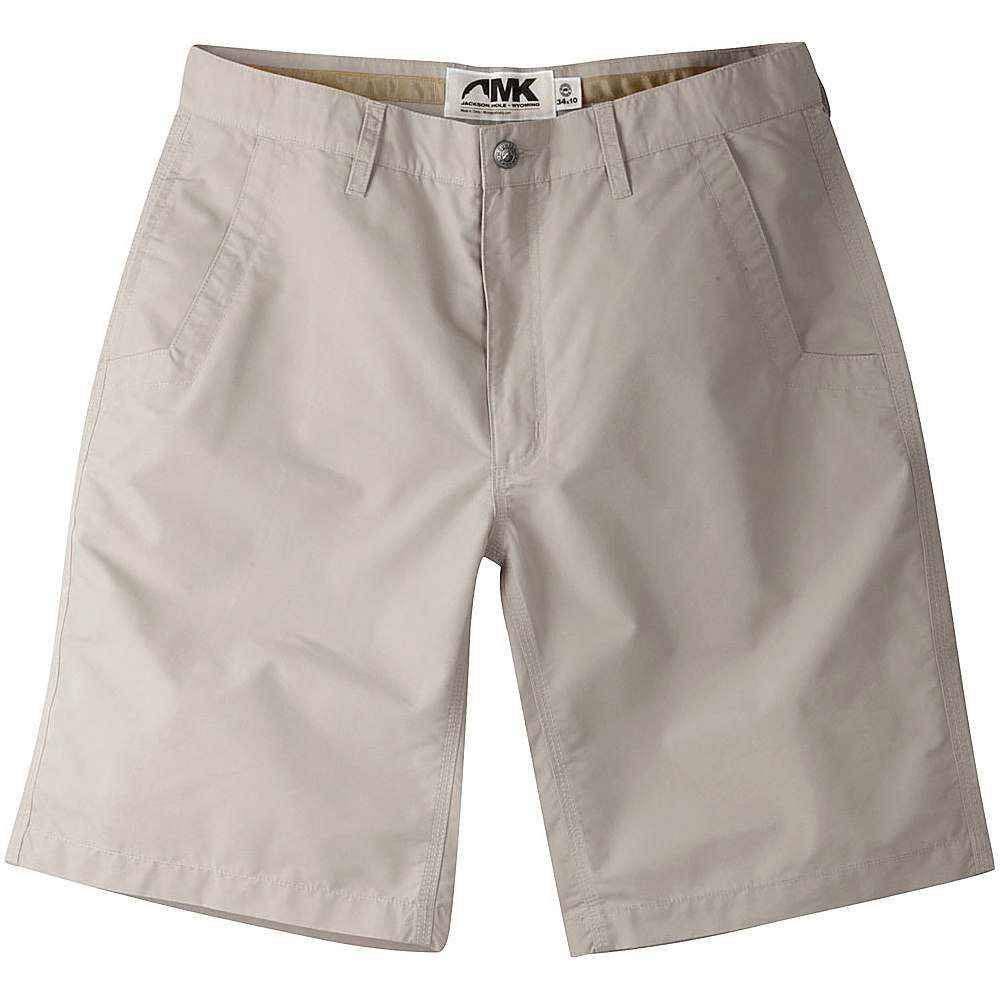 Mountain Khakis Poplin Shorts 35 - 8in - Oatmeal - 30W 10in - Mountain Khakis Mens Apparel - Apparel & Footwear, Men's Apparel