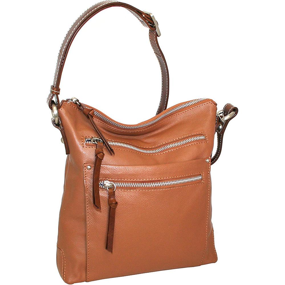 Nino Bossi Dear Prudance Crossbody Cognac - Nino Bossi Leather Handbags - Handbags, Leather Handbags