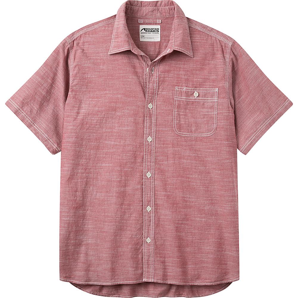 Mountain Khakis Mountain Chambray Short Sleeve Shirt L - Garnet - Mountain Khakis Mens Apparel - Apparel & Footwear, Men's Apparel