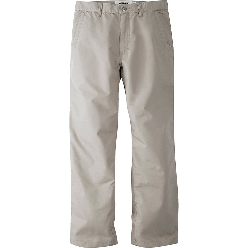 Mountain Khakis Slim Fit Poplin Pants 38 - 30in - Oatmeal - 30W 10in - Mountain Khakis Mens Apparel - Apparel & Footwear, Men's Apparel