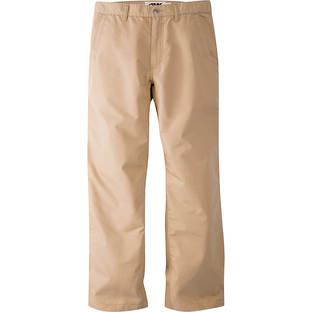 Mountain Khakis Slim Fit Poplin Pants 40 - 34in - Khaki - 10W 18.5in - Mountain Khakis Mens Apparel - Apparel & Footwear, Men's Apparel