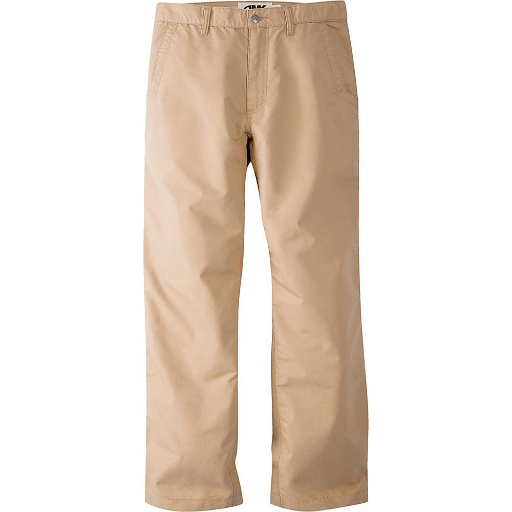Mountain Khakis Slim Fit Poplin Pants 42 - 34in - Khaki - 10W 18.5in - Mountain Khakis Mens Apparel - Apparel & Footwear, Men's Apparel