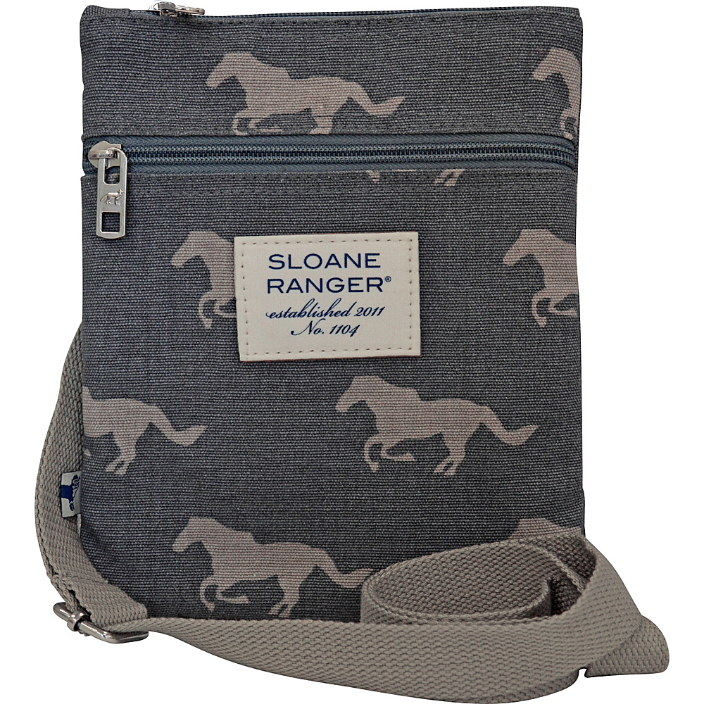 Sloane Ranger Crossbody Bag Grey Horse Sloane Ranger Fabric Handbags