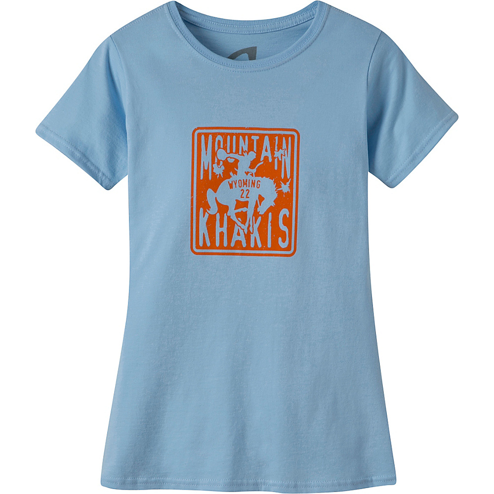 Mountain Khakis Wyoming 22 Short Sleeve T-Shirt S - Blue Sky - Mountain Khakis Womens Apparel - Apparel & Footwear, Women's Apparel
