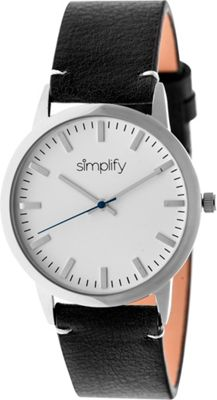 Simplify 2800 Unisex Watch Silver/Black - Simplify Watches