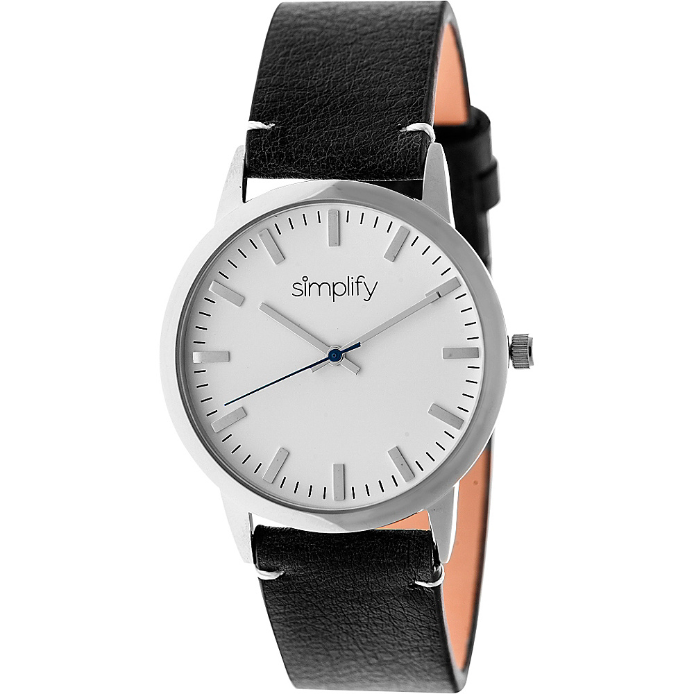 Simplify 2800 Unisex Watch Silver Black Simplify Watches