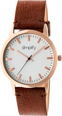 Simplify 2800 Unisex Watch Rose Gold/Brown - Simplify Watches