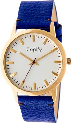 Simplify 2800 Unisex Watch Gold/Blue - Simplify Watches