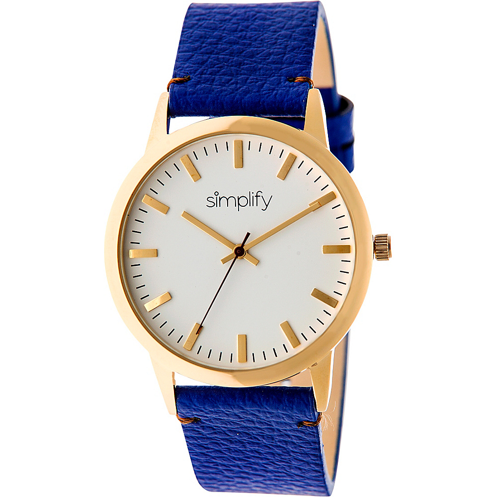 Simplify 2800 Unisex Watch Gold Blue Simplify Watches