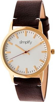 Simplify 2800 Unisex Watch Gold/Dark Brown - Simplify Watches