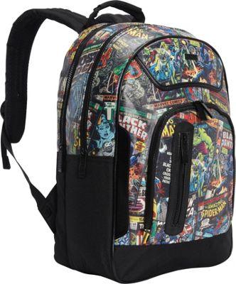 Marvel Marvel Comic Black Backpack Black Comic Print - Marvel Everyday Backpacks