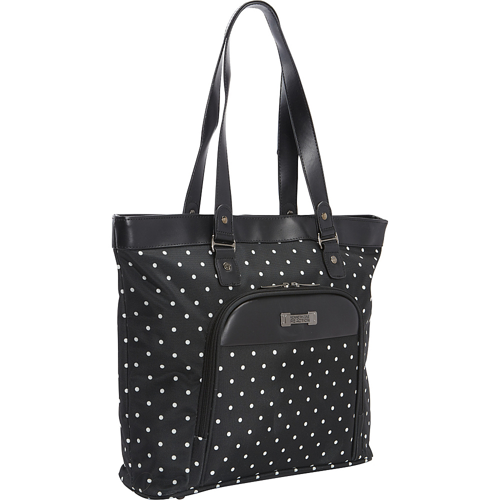 Kenneth Cole Reaction Dot Matrix Computer Shoppers Tote Black White Polka Dot Kenneth Cole Reaction Luggage Totes and Satchels