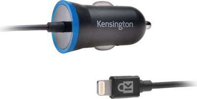 Kensington PowerBolt 2.4Amp iPad & iPhone Car Charger w/ Hardwired Lightning Cable Black - Kensington Portable Batteries & Chargers
