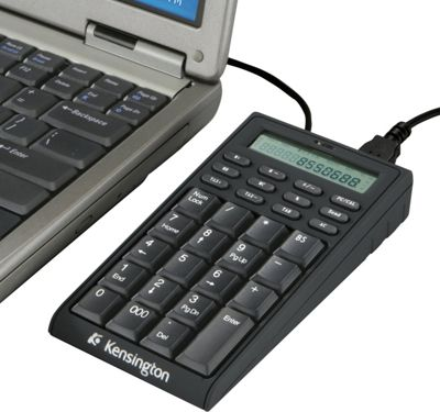 Kensington Notebook Keypad/Calculator with USB Hub Black - Kensington Electronic Accessories