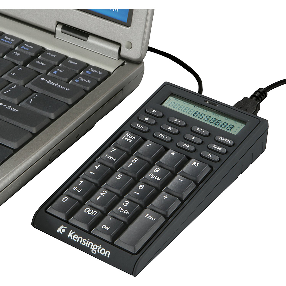 Kensington Notebook Keypad Calculator with USB Hub Black Kensington Electronic Accessories