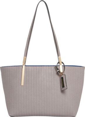 Hush Puppies Gigi Satchel Grey/Blue - Hush Puppies Manmade Handbags