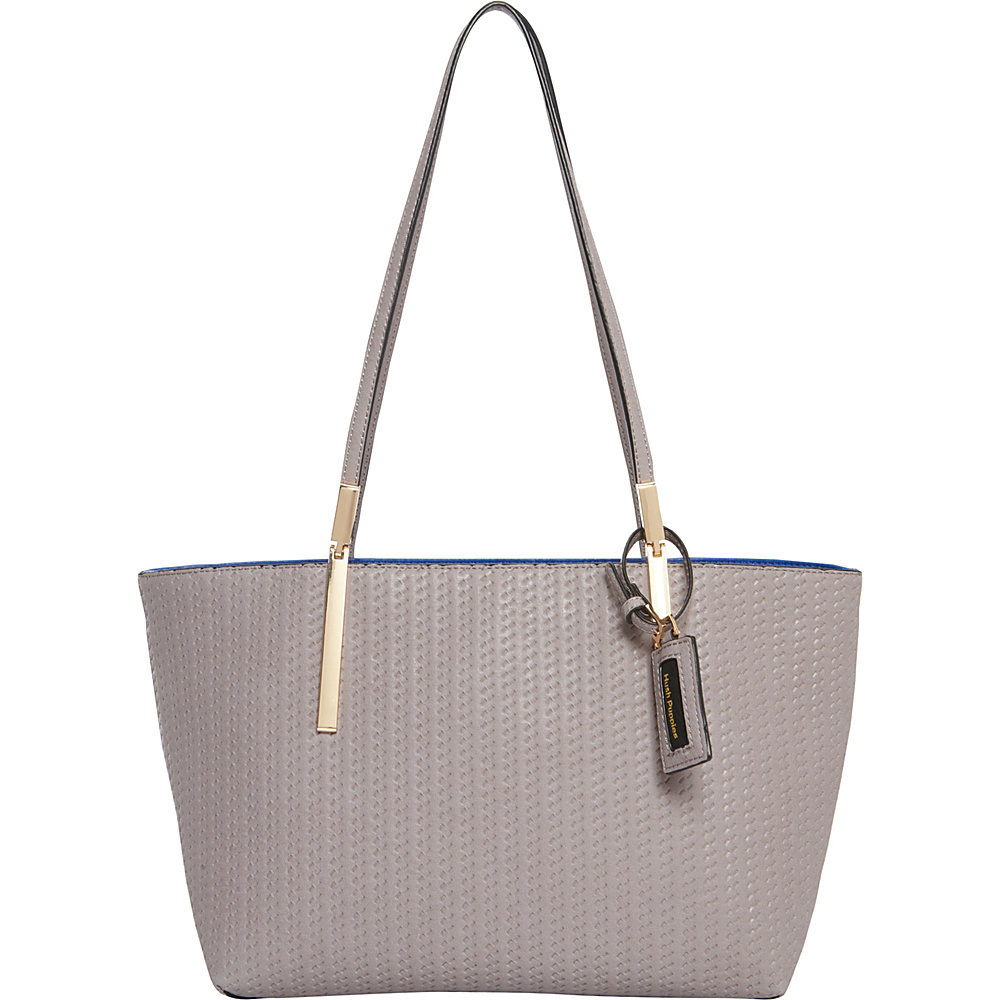 Hush Puppies Gigi Satchel Grey Blue Hush Puppies Manmade Handbags