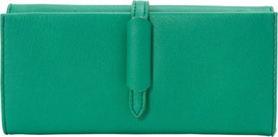 nu G Multi Compartment Wallet with Strap Accent Green - nu G Women's Wallets