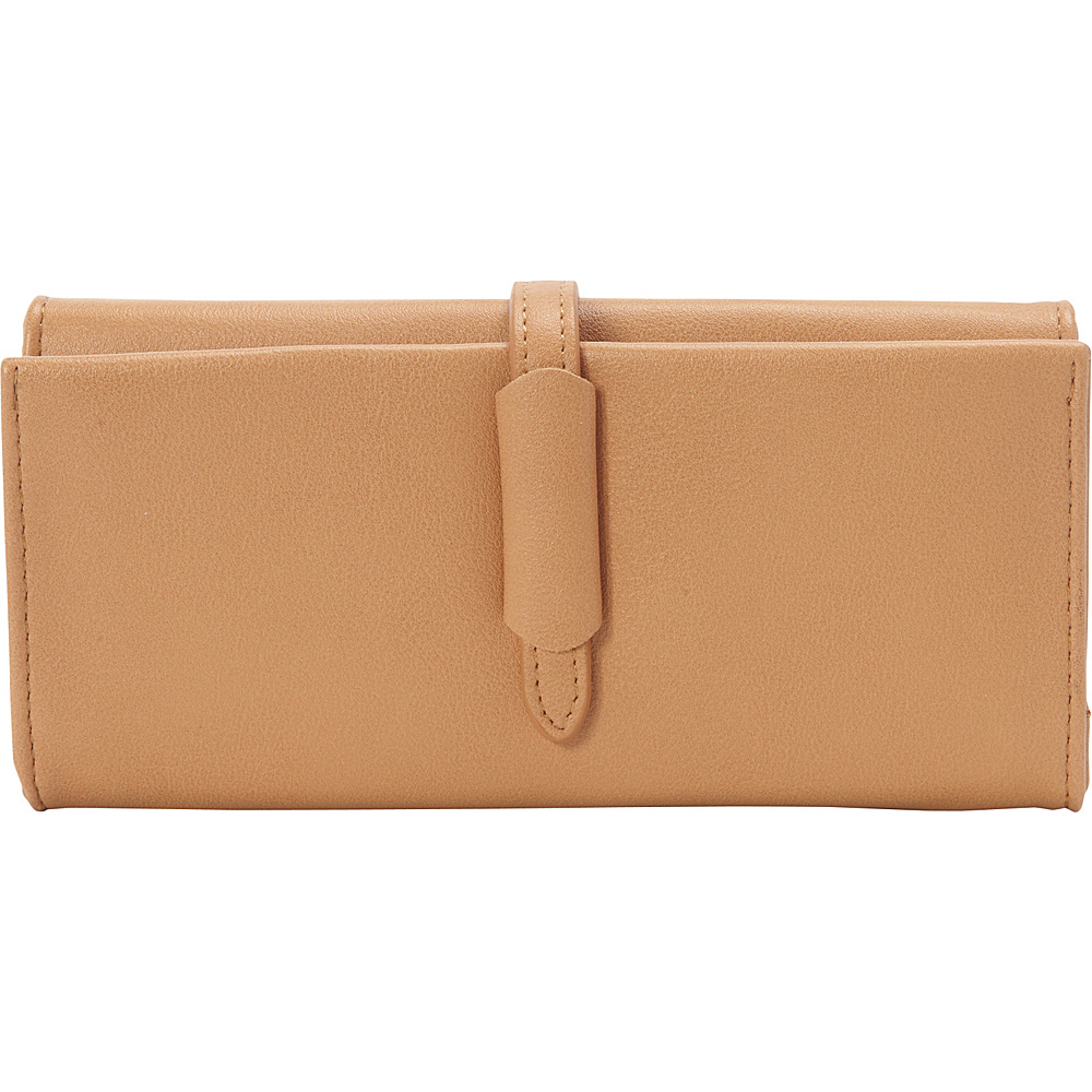 nu G Multi Compartment Wallet with Strap Accent Peach - nu G Women's Wallets