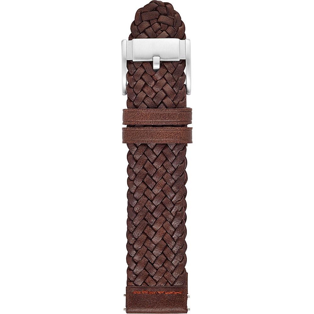 Fossil Leather 22mm Braided Watch Strap Brown - Fossil Watches - Fashion Accessories, Watches