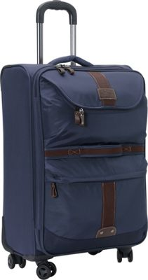GH Bass & CO Luggage McKinley 25 inch Upright Spinner Navy - GH Bass & CO Luggage Softside Checked