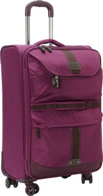 GH Bass & CO Luggage McKinley 25 inch Upright Spinner Purple - GH Bass & CO Luggage Softside Checked