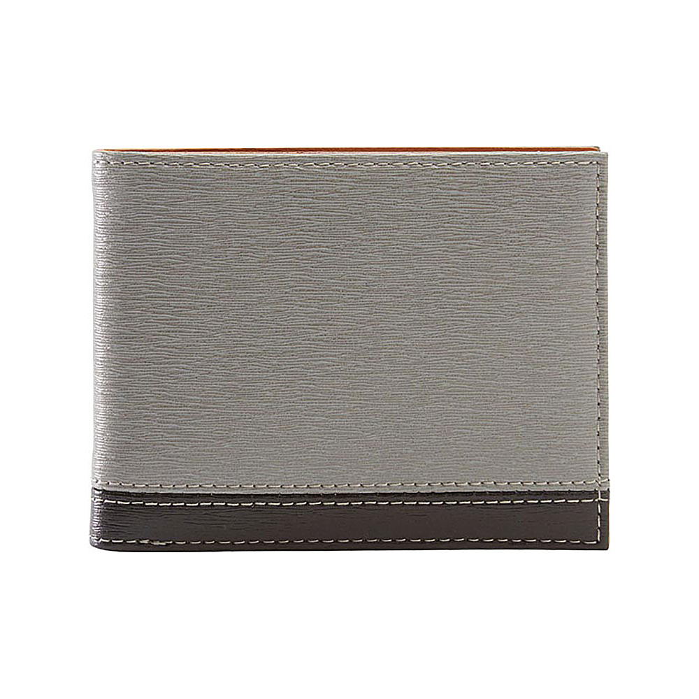 TUSK LTD Madison Billfold Wallet Grey Black TUSK LTD Men s Wallets