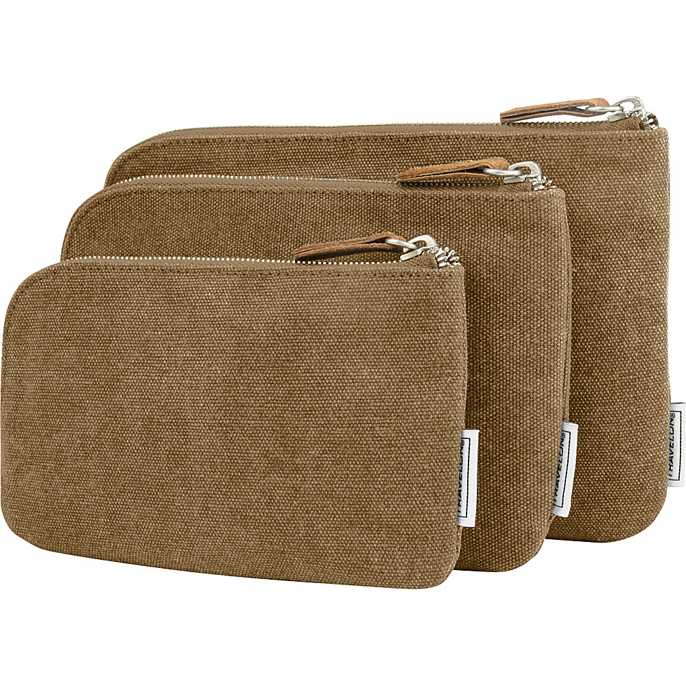 Travelon Heritage 3 Packing Pouches Oatmeal - Travelon Travel Organizers - Travel Accessories, Travel Organizers