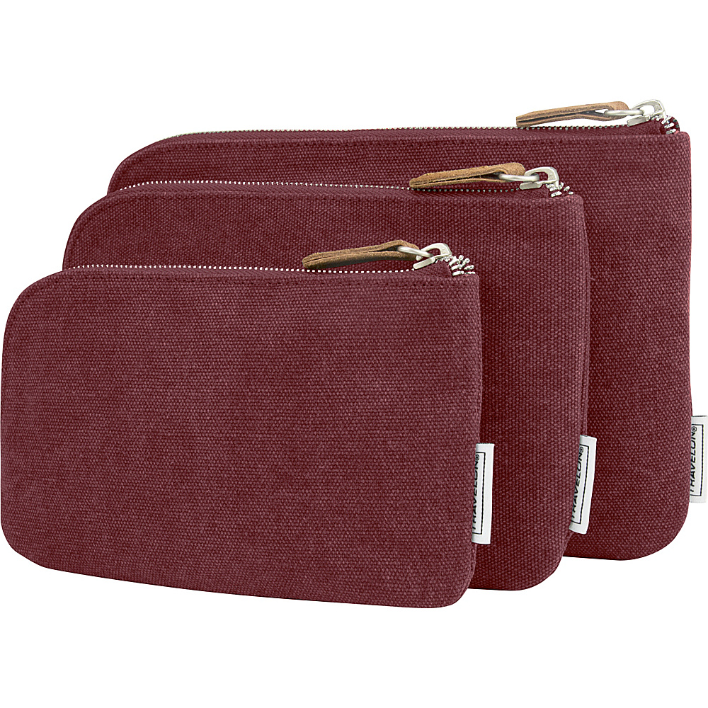 Travelon Heritage 3 Packing Pouches Wine - Travelon Travel Organizers - Travel Accessories, Travel Organizers