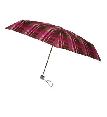 London Fog Umbrellas Ultra Mini Manual Umbrella Plaid - London Fog Umbrellas Umbrellas and Rain Gear