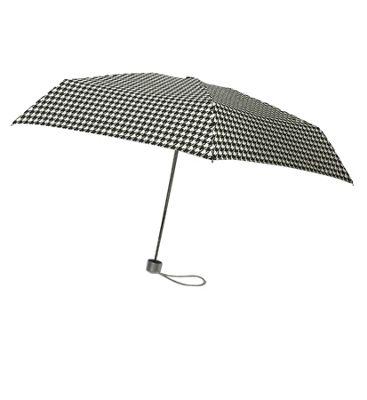 London Fog Umbrellas Ultra Mini Manual Umbrella Houndstooth - London Fog Umbrellas Umbrellas and Rain Gear