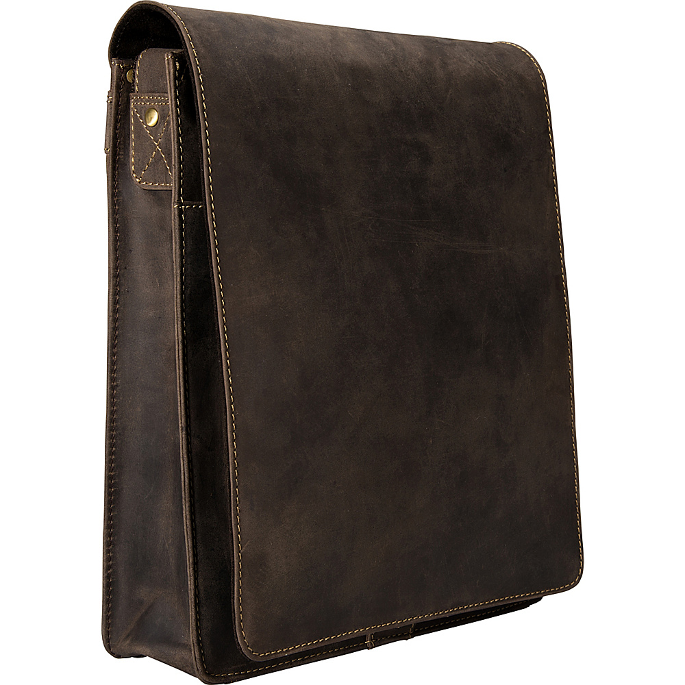 Visconti Organizer Messenger Bag In Distressed Leather Oil Brown Visconti Other Men s Bags