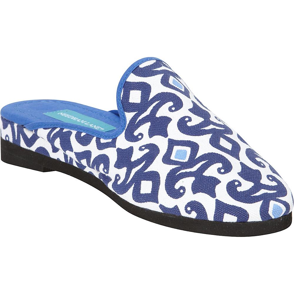 Needham Lane Hadley Slip Ons Blue Large Needham Lane Women s Footwear