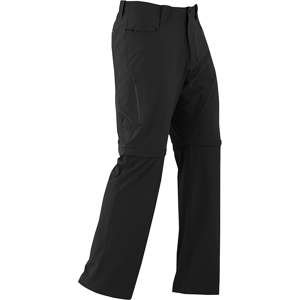 Outdoor Research Mens Ferrosi Convertible Pants 36 - Black - Outdoor Research Mens Apparel - Apparel & Footwear, Men's Apparel
