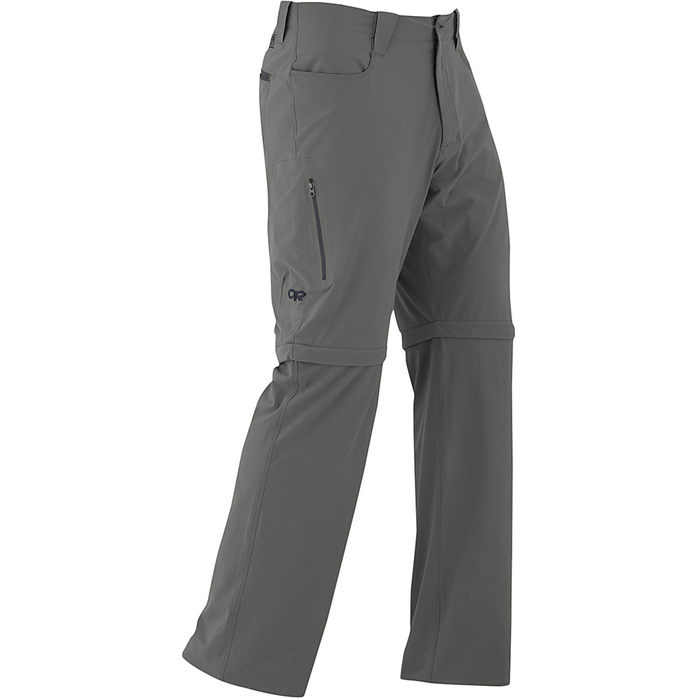 Outdoor Research Mens Ferrosi Convertible Pants 34 - Pewter - Outdoor Research Mens Apparel - Apparel & Footwear, Men's Apparel