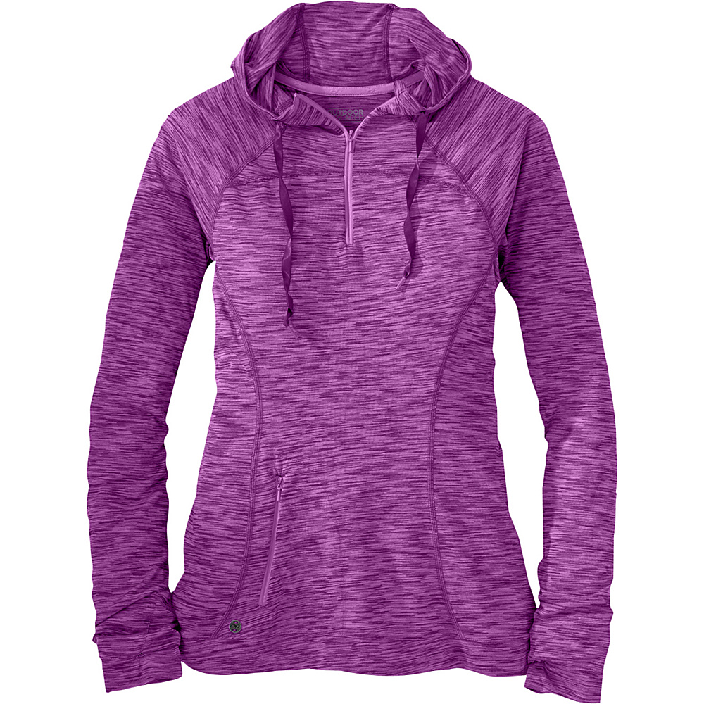 Outdoor Research Womens Flyway Zip Hoody XL - Wisteria – Extra Large - Outdoor Research Womens Apparel - Apparel & Footwear, Women's Apparel