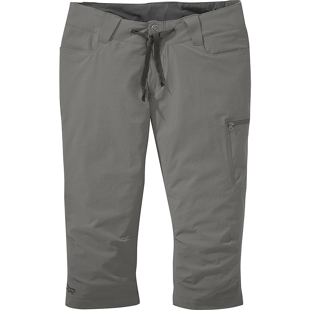 Outdoor Research Womens Ferrosi Capris 4 - Pewter - Outdoor Research Womens Apparel - Apparel & Footwear, Women's Apparel
